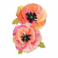 Sizzix - Favorite Things Collection - Thinlits Die - Large Poppy