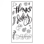 Sizzix - Favorite Things Collection - Clear Acrylic Stamps - Hello Darling