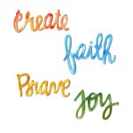 Sizzix Homegrown and Handmade Faith Create Brave and Joy Circle Words Thinlits Dies