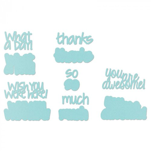 Sizzix - Framelits Die - Thoughtful Words