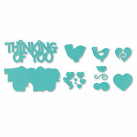 Sizzix - Thinlits Die - Thinking of You 3D Drop-ins Sentiment