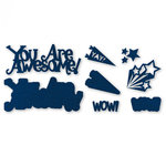 Sizzix - Thinlits Die - You Are Awesome 3D Drop-ins Sentiment