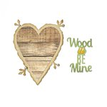 Sizzix - Fox Tales Collection - Thinlits Die - Phrase, Wood U Be Mine