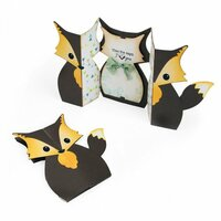 Sizzix - Fox Tales Collection - Thinlits Die - Card, Fox Label Fold-a-Long
