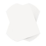 Sizzix - Paper Leather Sheets - 8.5 x 11 - White - 10 pack