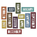 Sizzix - Tim Holtz - Alterations Collection - Thinlits Die - Calendar Word - Block