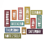 Sizzix - Tim Holtz - Alterations Collection - Thinlits Die - Daily Words - Block
