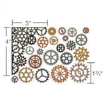 Sizzix Tim Holtz Alterations Gearhead Thinlits Die
