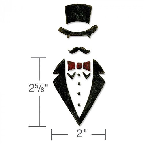 Sizzix - Tim Holtz - Alterations Collection - Bigz Die - Dapper