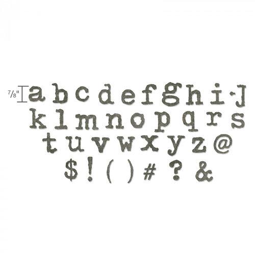 Sizzix - Tim Holtz - Alterations Collection - Bigz XL Alphabet Die - Typo Lowercase