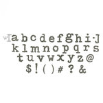 Sizzix - Tim Holtz - Alterations Collection - Bigz XL Alphabet Die - Typo Lowercase