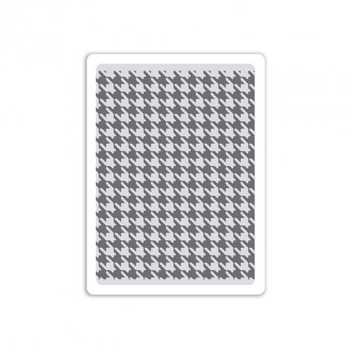 Sizzix - Tim Holtz - Alterations Collection - Texture Fades - Embossing Folder - Houndstooth