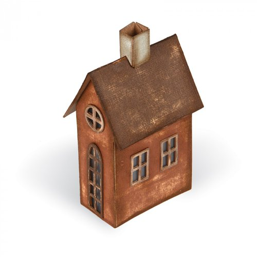 Sizzix - Tim Holtz - Alterations Collection - Bigz XL Die - Village Brownstone