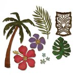 Sizzix - Tim Holtz - Alterations Collection - Thinlits Die - Tropical