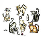 Sizzix - Tim Holtz - Alterations Collection - Framelits Dies - Crazy Cats