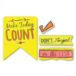 Sizzix - Framelits Die with Clear Acrylic Stamps - Make Today Count