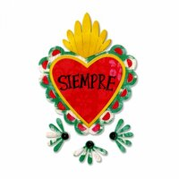 Sizzix - Crafty Chica - Day of the Dead Collection - Thinlits Die - Sacred Heart with Flowers