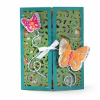 Sizzix - Thinlits Die - Gatefold Card, Butterflies