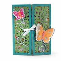 Sizzix - Thinlits Die - Gatefold Card, Butterflies