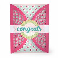 Sizzix - Thinlits Die - Gatefold Card, Scalloped Lace