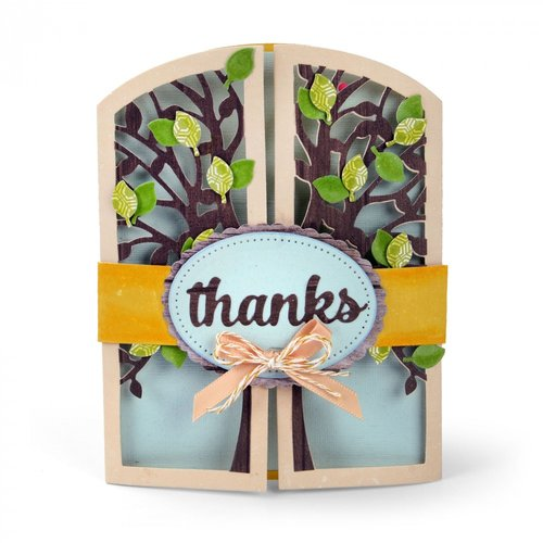 Sizzix - Thinlits Die - Gatefold Card, Tree