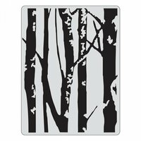 Sizzix - Tim Holtz - Alterations Collection - Texture Fades - Embossing Folder - Birch Trees