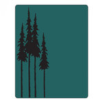 Sizzix - Tim Holtz - Alterations Collection - Texture Fades - Embossing Folder - Tall Pines