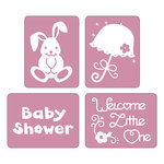 Sizzix - Textured Impressions - Embossing Folders - Baby Set 4