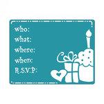 Sizzix - Textured Impressions - Embossing Folders - Birthday Invitation