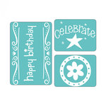 Sizzix - Textured Impressions - Embossing Folders - Birthday Set 6