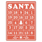 Sizzix - Christmas - Textured Impressions - Embossing Folders - Santa Bingo Card