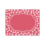Sizzix - Textured Impressions - Embossing Folders - Frame, Ornate with Flowers 2