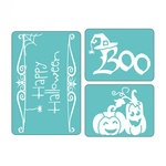 Sizzix - Textured Impressions - Embossing Folders - Halloween Set 3