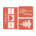 Sizzix - Christmas - Textured Impressions - Embossing Folders - Happy Holidays Set