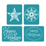 Sizzix - Christmas - Textured Impressions - Embossing Folders - Happy Holidays Set 2