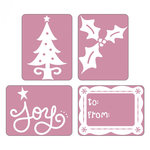 Sizzix - Textured Impressions - Embossing Folders - Joy Set