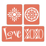 Sizzix - Textured Impressions - Embossing Folders - Love Set 5