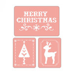 Sizzix - Textured Impressions - Embossing Folders - Merry Christmas Set