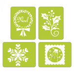 Sizzix - Christmas - Textured Impressions - Embossing Folders - Noel Set