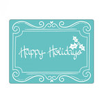Sizzix - Christmas - Textured Impressions - Embossing Folders - Phrase, Happy Holidays