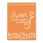 Sizzix - Textured Impressions - Embossing Folders - Phrase, Sweet Baby