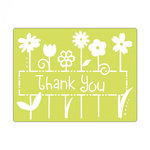 Sizzix - Textured Impressions - Embossing Folders - Phrase, Thank You