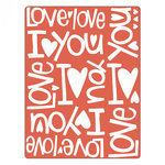 Sizzix - Textured Impressions - Embossing Folders - Phrases, I Love You