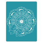 Sizzix - Textured Impressions - Embossing Folders - Scallop Circle Doily