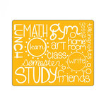 Sizzix - Textured Impressions - Embossing Folders - School Days