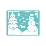 Sizzix - Christmas - Textured Impressions - Embossing Folders - Snowman and Tree