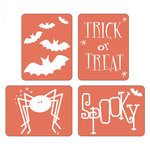 Sizzix - Halloween - Textured Impressions - Embossing Folders - Spooky Set