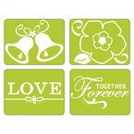 Sizzix - Textured Impressions - Embossing Folders - Together Forever Set