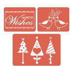 Sizzix - Textured Impressions - Embossing Folders - Warm Wishes Set