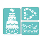 Sizzix - Textured Impressions - Embossing Folders - Wedding Set 4